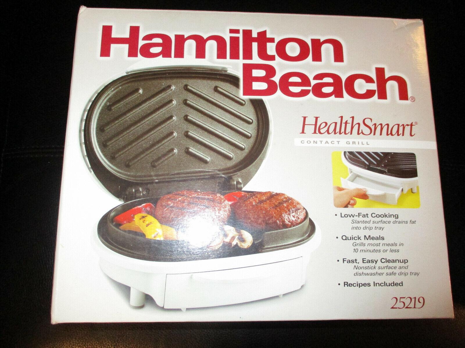 Hamilton Beach 25219 Health Smart Contact Grill White NEW IN