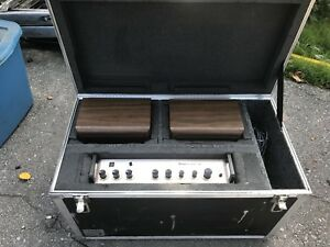 PA / stereo system in custom Clydesdale flight case