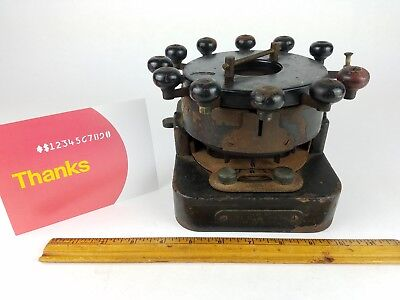 Antique/Vintage Brady Automatic Bank Punch Machine check number die hole rotate