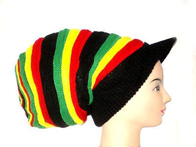 Reggae Mütze Jamaika Rasta Afrika Boho Beanie Marley