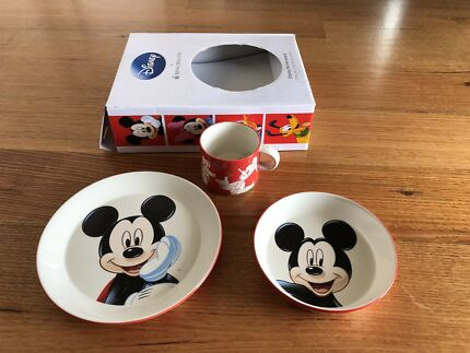 Royal Doulton Disney Mickey Mouse 3 Piece Set For Kids (Brand New)