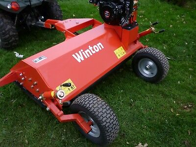 Petrol ATV quad flail mower grass cutter. Suit compact tractor Kubota B6000 etc.