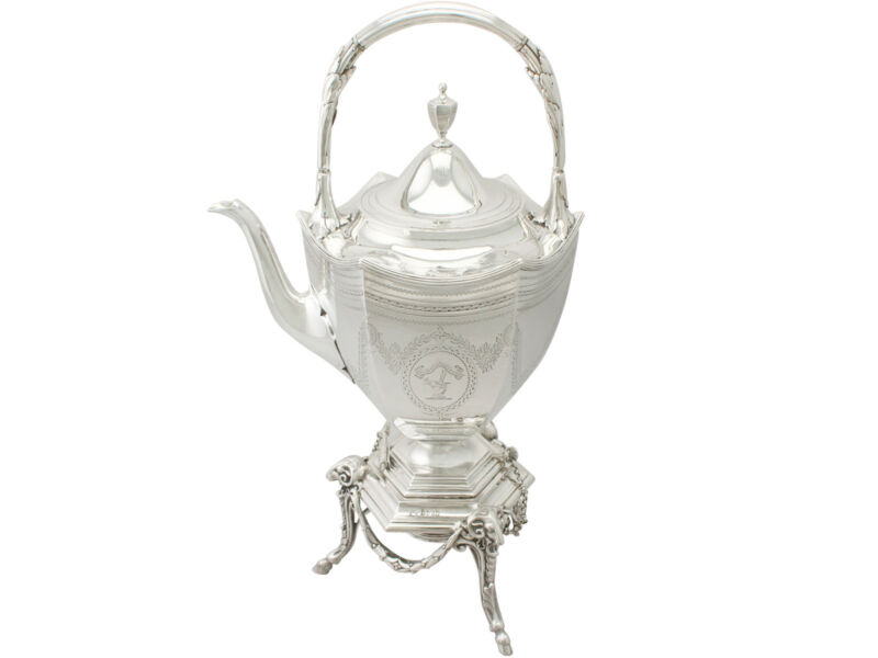 Antique Victorian Sterling Silver Spirit Kettle By Barnard & Sons Ltd