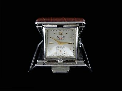 Rare design golf belt watch in silver and brown crocodile