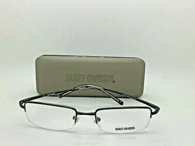 HARLEY DAVIDSON Eyeglasses HD276 BRN BROWN  HALF RIMLESS 51-19-140MM