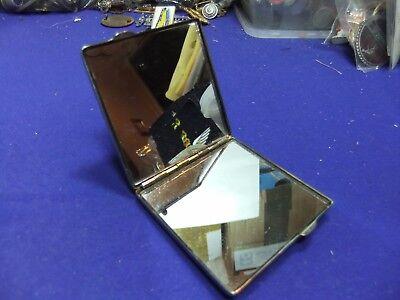1920s Style Purses, Flapper Bags, Handbags vtg compact case double mirror chrome finish purse mirror deco style 1920s 30s ? $22.81 AT vintagedancer.com