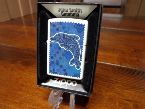 JOHN SMITH GUMBALA DOLPHIN WHITE MATTE ZIPPO LIGHTER MINT IN BOX