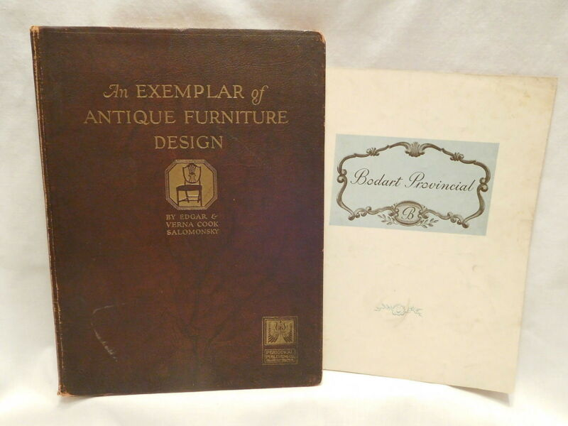 An Exemplar of Antique Furniture Design  1923 Salomonsky Book + Bodart Booklet