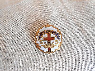 Vintage Methodist Sunday School Gold Filled Little System Cross & Crown Pin
