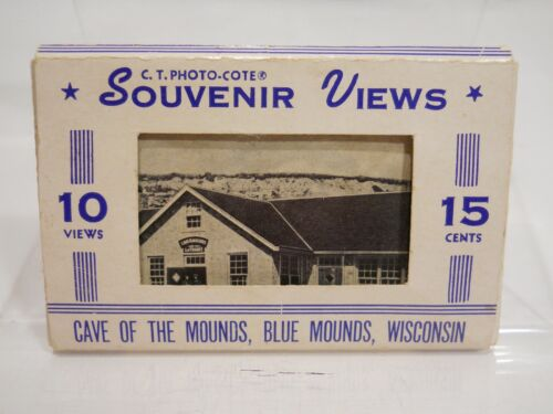 VINTAGE - CAVE OF THE MOUNDS - BLUE MOUNDS WISCONSIN - Ten Souvenir Views