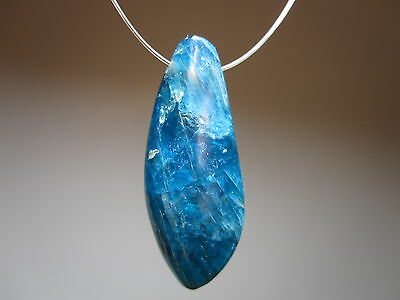Electric Blue Apatite Gemstone Natural Crystal Jewelry Design Focal Bead Pendant