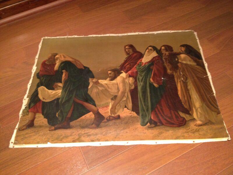 The Deposition of Christ (Canvas) (Signed) Antonio Ciseri (Rare and Beautiful)
