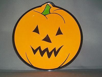Melamine Halloween Jack-O-Lantern Pumpkin Bread/Dessert/Child's Plate - NEW