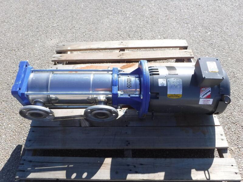 G&L Multistage Vertical Pump 45VC1M2G0 Baldor Motor 15HP 3450 RPM 3PH VM3314T