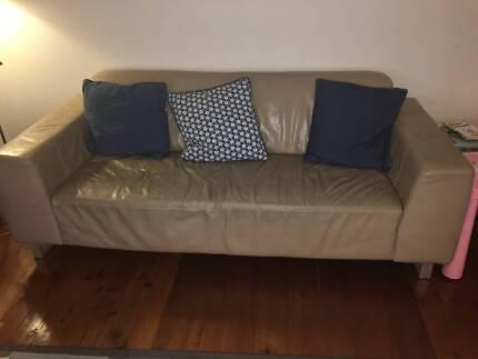 Free - Large 3 Seater Leather Sofa - Nick Scali
