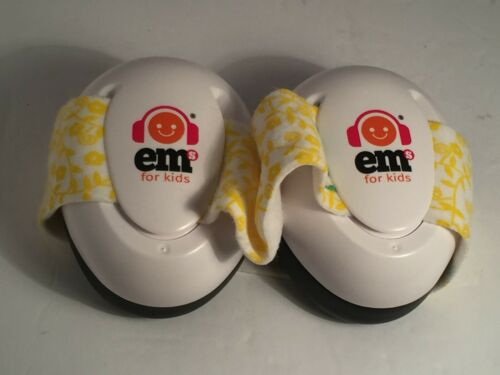 💛Ems for Kids Bubs White Yellow Hearing & Noise Protection Baby Infant Earmuffs