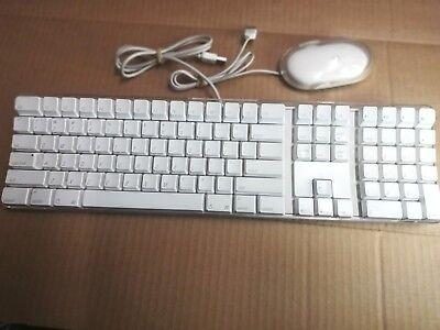 Apple Usb Tastatur Maus (Geprüft & Betriebsbereit Apple Mac A1048 Weiß USB Tastatur Verkabelte und Maus)