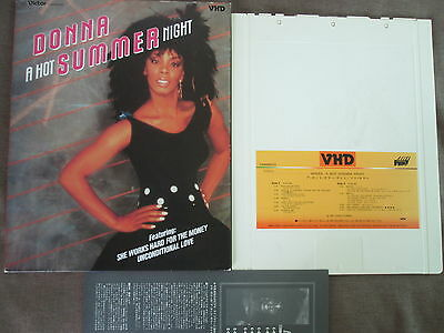 DONNA SUMMER A Hot Summer Night-Live JAPAN-ONLY VHD VHM68033 w/SLIP CASE Free SH