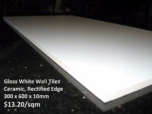 Gloss White Wall Tiles 300x600 pallet price $11m2 clearance sale Marrickville Marrickville Area Preview