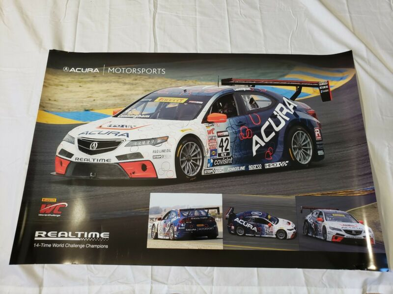 "Realtime Peter Cunningham #42 Acura Motorsports TSX Poster 36""×24"" USA"