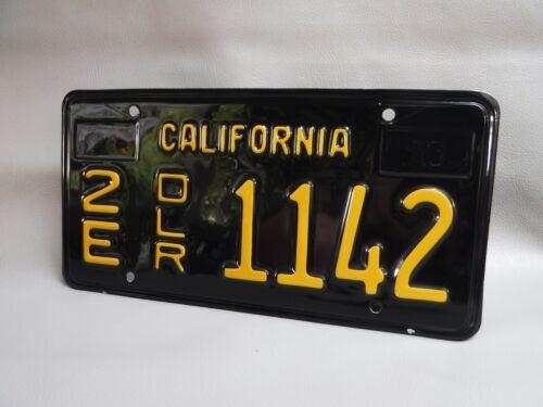 1963 California Dealer License Plate