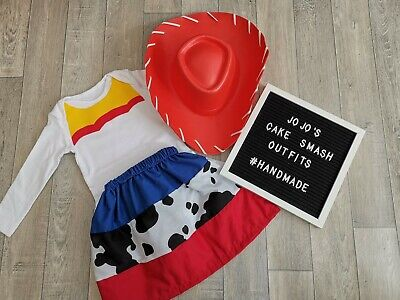 Baby Girl First Birthday Themes (Baby girls 1st Birthday Cake Smash Outfit. Blue, red jessie. *toy story)