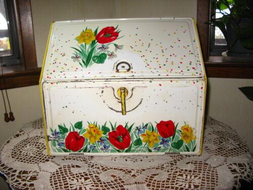 Vintage Collectible Metal Kitchen Bread Box 1950