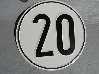 20 km/h Schild,Blech,Blechschild,Traktor,Anhänger, Geschwindigkeitsschild