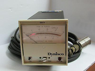 DYNISCO PRESSURE CONTROLLER ER478 0-5 PSI X 1000 0-3 KG/3M² X 100 - USED