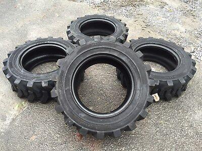 4 New 10-16.5 Camso Sks 532 Skid Steer Tires For Bobcat Catjohn Deere More