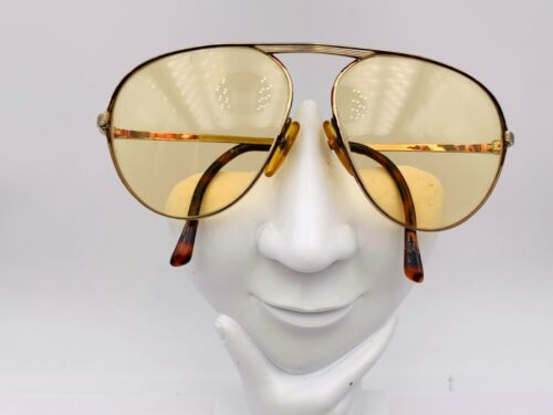 Vintage Christian Dior Brown Gold Metal Aviator Sunglasses Austria FRAMES ONLY