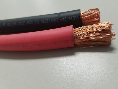 2//0 EXCELENE WELDING BATTERY CABLE RED 600V USA 105c EPDM JACKET BUY PER FOOT