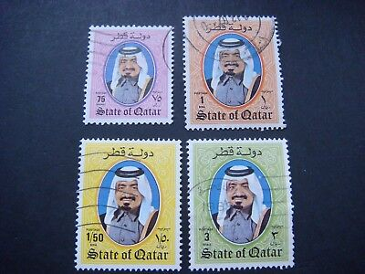 Qatar 1984 Shaikh Khalifa 4 values used SG 767a,768,769 & 771 Cat £9-85