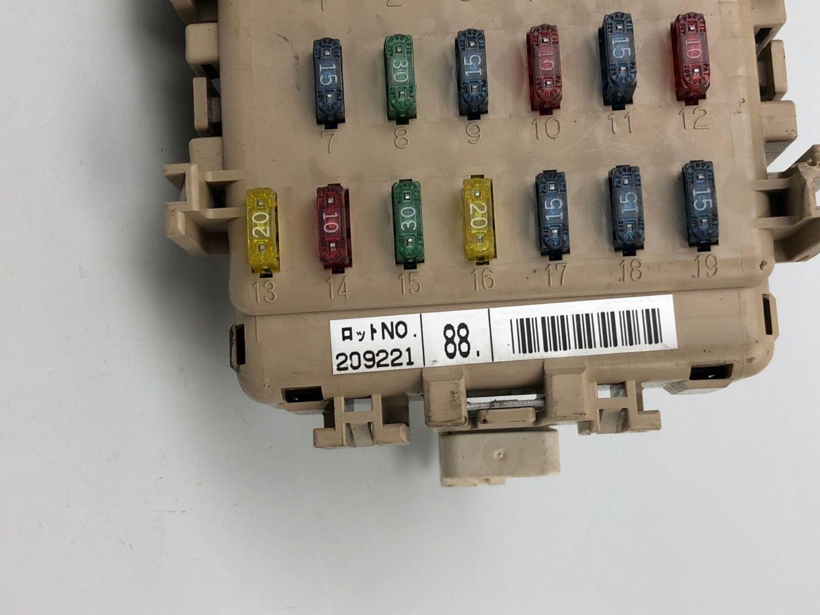 1998-2001 subaru impreza 2 0 turbo interior fuse box control unit