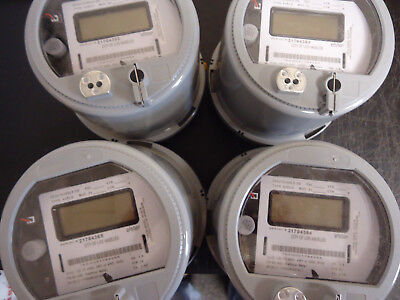 Lot Of 4 Elster Watthour Meter A3rlq Zd3210jg0l5 Cl20 City Of Los Angeles