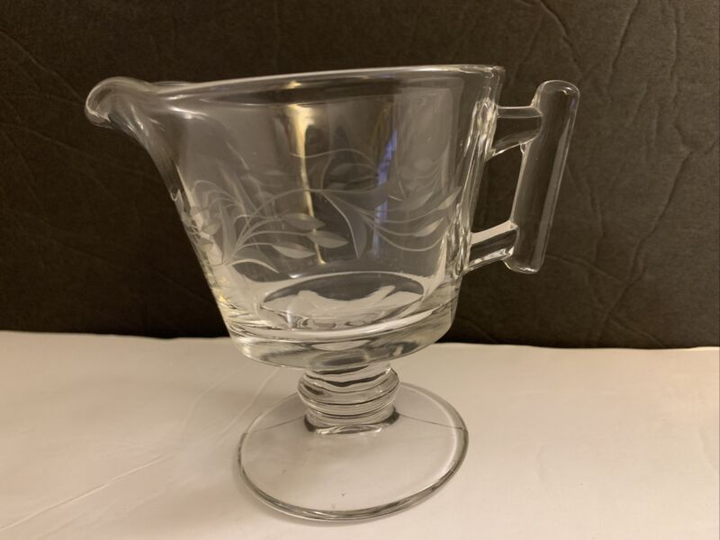Vintage Fostoria Glass Raleigh Footed Creamer W #826 Cutting Minuet