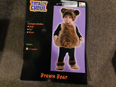 Kmart Toddler Costumes (Cute Totally Ghoul Brown Bear Toddler Halloween Costume • Size 1-2)