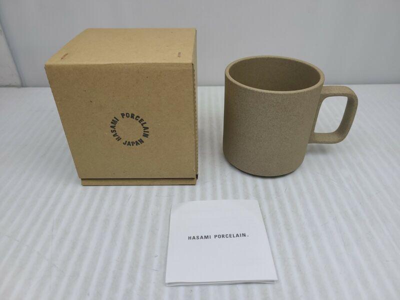 "HASAMI Porcelain Japan Coffee Mug Cup Brown 3.5"" 13oz BRAND NEW FREE SHIPPING"