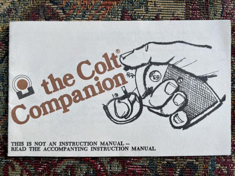Original Colt Companion Pamphlet