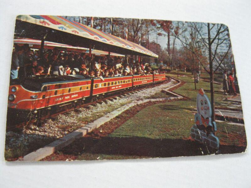 Vintage 1962 Lincoln Park North Dartmouth MA Miniature Railroad Humpty Postcard