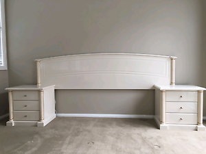 Bed head with side drawers - Corinthian Style Campbelltown Campbelltown Area Preview