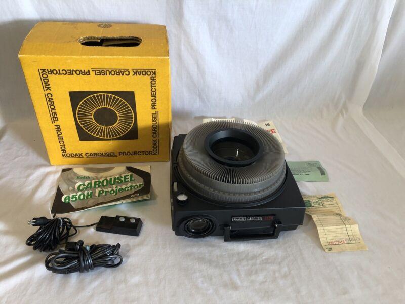 Kodak Carousel 650H Slide Projector In Original Box Included Carousel