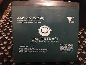 4 * NEW EBIKE BATTERIES, BOUGHT MAY 5, 2018 FROM OMG EXTRAS