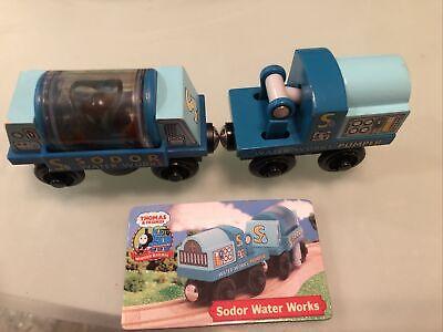 Sodor Water Works Pumper Tanker Car Set Thomas & Friends Wooden Railway Trains