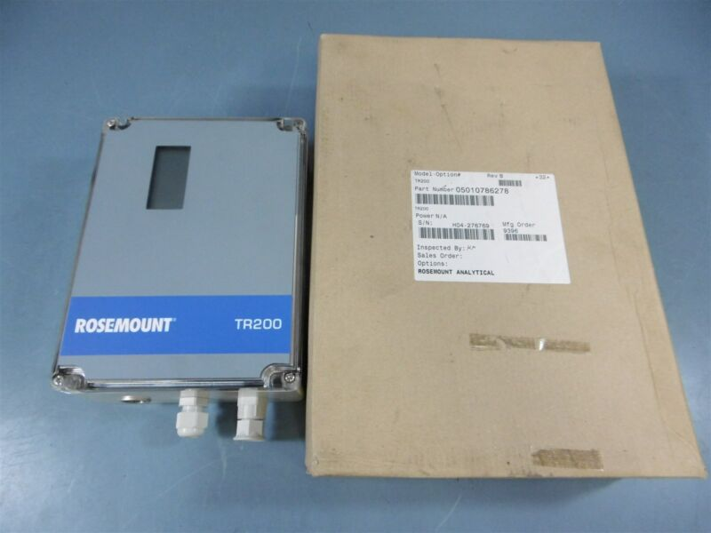 New Rosemount Analytical Sensor Transmitter TR200