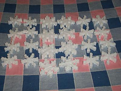 b. Group 24 Styrofoam Snowflakes 1 9/16 - 1 15/16