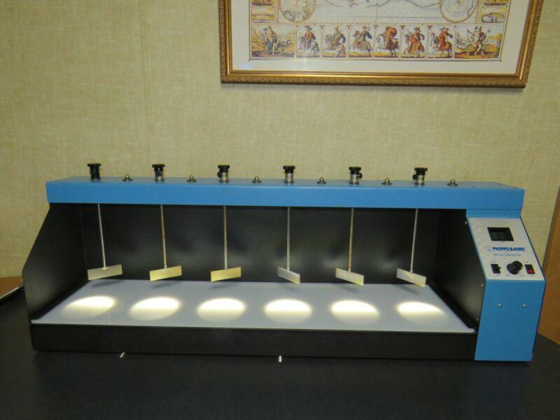 Phipps and Bird Model PB-700 Jar Tester-Lab Stirrer, 6-Paddle Illuminated Base