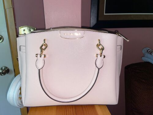 Michael Kors Rochelle Satchel in Soft Pink/Gold Msrp $298.