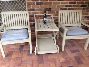 OUTDOOR SETTING, DRINK TROLLEY, MAGAZINE RACK Samford Valley Brisbane North West Preview