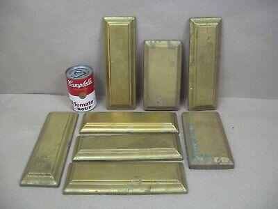 Vtg Brass Oil Electric Lamp Chandelier Parts Lot Rectangle Back Plates? (L3)